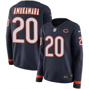 Wholesale Cheap Nike Bears #20 Prince Amukamara Navy Blue Team Color Women's Stitched NFL Limited Therma Long Sleeve Jersey