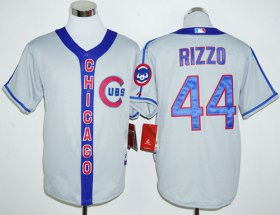 Wholesale Cheap Cubs #44 Anthony Rizzo Grey Cooperstown Stitched MLB Jersey