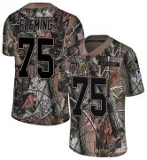 Wholesale Cheap Nike Giants #75 Cameron Fleming Camo Youth Stitched NFL Limited Rush Realtree Jersey