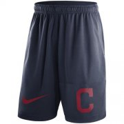 Wholesale Cheap Men's Cleveland Indians Nike Navy Dry Fly Shorts