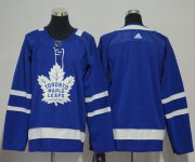 Wholesale Cheap Adidas Maple Leafs Blank Blue Home Stitched Youth NHL Jersey