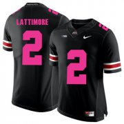 Wholesale Cheap Ohio State Buckeyes 2 Overview Lattimore Black 2018 Breast Cancer Awareness College Football Jersey