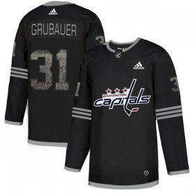 Wholesale Cheap Adidas Capitals #31 Philipp Grubauer Black_1 Authentic Classic Stitched NHL Jersey