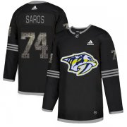 Wholesale Cheap Adidas Predators #74 Juuse Saros Black Authentic Classic Stitched NHL Jersey