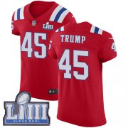 Wholesale Cheap Nike Patriots #45 Donald Trump Red Alternate Super Bowl LIII Bound Men's Stitched NFL Vapor Untouchable Elite Jersey