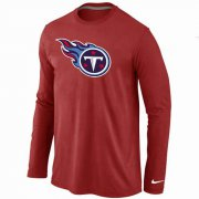 Wholesale Cheap Nike Tennessee Titans Logo Long Sleeve T-Shirt Red
