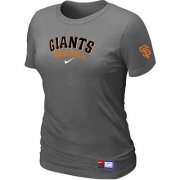 Wholesale Cheap Women's San Francisco Giants Nike Short Sleeve Practice MLB T-Shirt Crow Grey