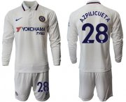 Wholesale Cheap Chelsea #28 Azpilicueta Away Long Sleeves Soccer Club Jersey