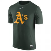 Wholesale Cheap Oakland Athletics Nike Authentic Collection Legend Logo 1.5 Performance T-Shirt Green