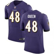 Wholesale Cheap Nike Ravens #48 Patrick Queen Purple Team Color Men's Stitched NFL Vapor Untouchable Elite Jersey