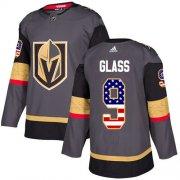Wholesale Cheap Adidas Golden Knights #9 Cody Glass Grey Home Authentic USA Flag Stitched NHL Jersey