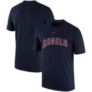Wholesale Cheap Los Angeles Angels Nike Batting Practice Logo Legend Performance T-Shirt Navy