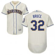 Wholesale Cheap Mariners #32 Jay Bruce Cream Flexbase Authentic Collection Stitched MLB Jersey