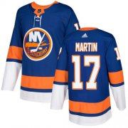Wholesale Cheap Adidas Islanders #17 Matt Martin Royal Blue Home Authentic Stitched NHL Jersey