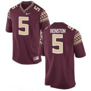 Wholesale Cheap Men's Florida State Seminoles #5 Jameis Winston Red Stitched College Football 2016 Nike NCAA Jersey