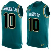 Wholesale Cheap Nike Jaguars #10 Laviska Shenault Jr. Teal Green Alternate Men's Stitched NFL Limited Tank Top Jersey
