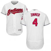 Wholesale Cheap Indians #4 Bradley Zimmer White Flexbase Authentic Collection Stitched MLB Jersey