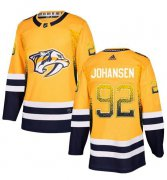 Wholesale Cheap Adidas Predators #92 Ryan Johansen Yellow Home Authentic Drift Fashion Stitched NHL Jersey