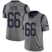Wholesale Cheap Nike Rams #66 Austin Blythe Gray Men's Stitched NFL Limited Inverted Legend Jersey