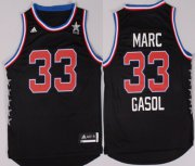 Wholesale Cheap 2015 NBA Western All-Stars #33 Marc Gasol Revolution 30 Swingman Black Jersey