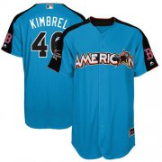 Wholesale Cheap Red Sox #46 Craig Kimbrel Blue 2017 All-Star American League Stitched MLB Jersey