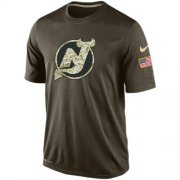 Wholesale Cheap Men's New Jersey Devils Salute To Service Nike Dri-FIT T-Shirt