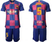 Wholesale Cheap Barcelona #5 Sergio 20th Anniversary Edition Home Soccer Club Jersey