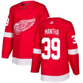 Wholesale Cheap Adidas Red Wings #39 Anthony Mantha Red Home Authentic Stitched NHL Jersey