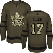 Wholesale Cheap Adidas Maple Leafs #17 Wendel Clark Green Salute to Service Stitched Youth NHL Jersey