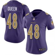 Wholesale Cheap Nike Ravens #48 Patrick Queen Purple Women's Stitched NFL Limited Rush Jersey