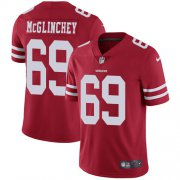 Wholesale Cheap Nike 49ers #69 Mike McGlinchey Red Team Color Youth Stitched NFL Vapor Untouchable Limited Jersey