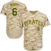 Wholesale Pirates #6 Starling Marte Camo Flexbase Authentic Collection Stitched Baseball Jersey
