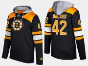 Wholesale Cheap Bruins #42 David Backes Black Name And Number Hoodie