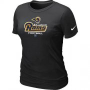 Wholesale Cheap Women's Nike Los Angeles Rams Critical Victory NFL T-Shirt Black