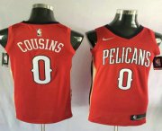 Wholesale Cheap Men's New Orleans Pelicans #0 DeMarcus Cousins New Red 2017-2018 Nike Swingman Stitched NBA Jersey