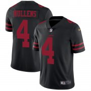 Wholesale Cheap Nike 49ers #4 Nick Mullens Black Alternate Men's Stitched NFL Vapor Untouchable Limited Jersey