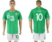 Wholesale Cheap Ireland #10 Keane Home Soccer Country Jersey