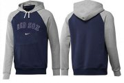 Wholesale Cheap Boston Red Sox Pullover Hoodie Dark Blue & Grey