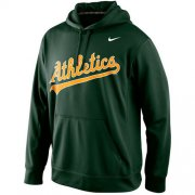 Wholesale Cheap Oakland Athletics Nike Men's KO Wordmark Performance Green MLB Hoodie