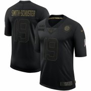 Cheap Pittsburgh Steelers #19 JuJu Smith-Schuster Nike 2020 Salute To Service Limited Jersey Black