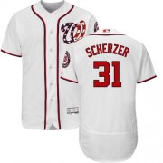 Wholesale Cheap Nationals #31 Max Scherzer White Flexbase Authentic Collection Stitched MLB Jersey
