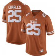 Wholesale Cheap Men's Texas Longhorns 25 Jamaal Charles Orange Nike College Jersey