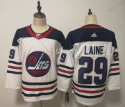 Wholesale Cheap Adidas Jets #29 Patrik Laine White Third Stitched NHL Jersey