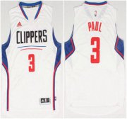 Wholesale Cheap Los Angeles Clippers #3 Chris Paul Revolution 30 Swingman 2015 New White Jersey