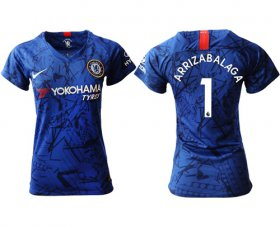 Wholesale Cheap Women\'s Chelsea #1 Arrizabalaga Home Soccer Club Jersey