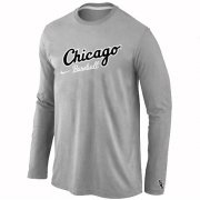 Wholesale Cheap Chicago White Sox Long Sleeve MLB T-Shirt Grey