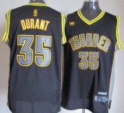 Wholesale Cheap Oklahoma City Thunder #35 Kevin Durant Black Electricity Fashion Jersey