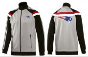 Wholesale Cheap NFL New England Patriots Team Logo Jacket Grey