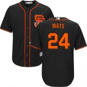 Wholesale Cheap Giants #24 Willie Mays Black Alternate Cool Base Stitched Youth MLB Jersey