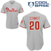Wholesale Cheap Phillies #20 Mike Schmidt Grey Cool Base Stitched Youth MLB Jersey